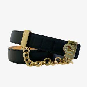 Salvatore Ferragamo Gancini Logo Leather Belt
